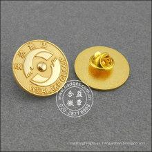 Insignia organizativa de oro, pin redondo de solapa (GZHY-LP-019)