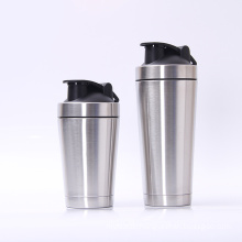 Sports Water Bottle Double Wall Stainless Steel Protein Shaker bottle