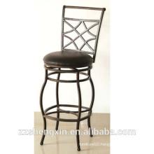 Antique KD style Bar Chair, Swivel Backrest Bar Stool with Cushion