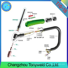 Tocha de soldagem tig wp18 weldcraft peças sobressalentes de tocha de árgon