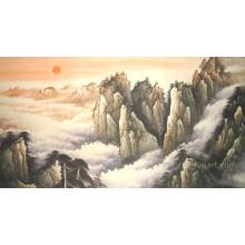 Картина маслом пейзажа ручной работы ручной работы ландшафта стены