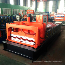 Nouveau design botou hebei fournisseur matériau de construction couleur 828 carreaux de verre fer tôle rouleau formant des machines