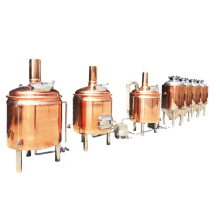 Automated steam 500l red copper brew kettle for sale