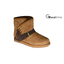 Women′s New Arrival Fashion Suede Snow Boots with Strap