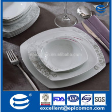 18pcs square bone China European royal household ceramic soup bowls fancy plate