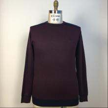Men's Round Neck Dark Red Sweater