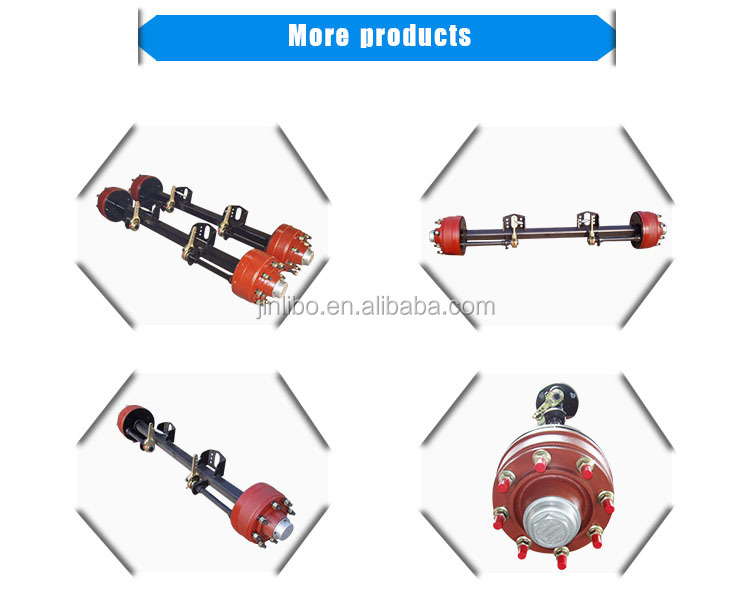 Trailer Spare Parts Agriculture Axle 6 Holes or 8 Holes