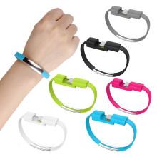 2019 neueste mode bunte armband tragbare handy schnellladegerät micro armband usb kabel