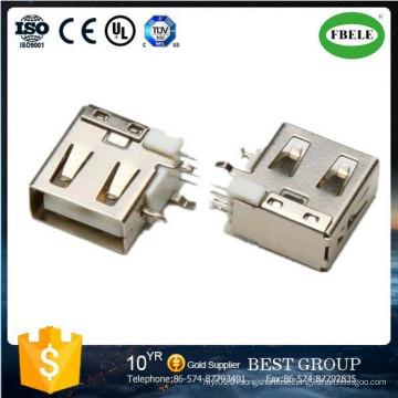 Panel Mount Waterproof Connector Terminal Micro USB Connector USB Connector (FBELE)