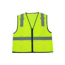 Hi-Viz Mesh Reflective Safety Vest with Zipper