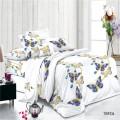 Conjuntos de ropa de cama de tela de gasa lisa de poliéster impresa digital