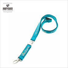 Custom Polyester Lanyard with Thick 3D Embossed Logo