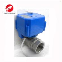 Válvula de agua de cierre automático eléctrica de 5v 12v 24v CWX-25S