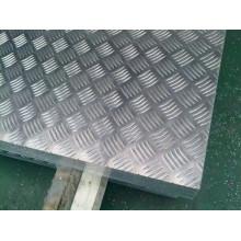 Folha quadriculada de alumínio