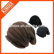 Acrylic oversized knit slouch beanie