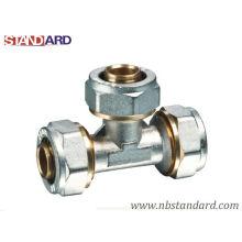 Pex-Al-Pex Fitting/Brass Compression Fitting/Brass Tee/Equal Tee