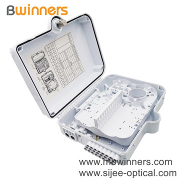 Ftth Pc Abs Professional Plc Splitter Fiber Optic Distribution Box Fiber Terminal Box