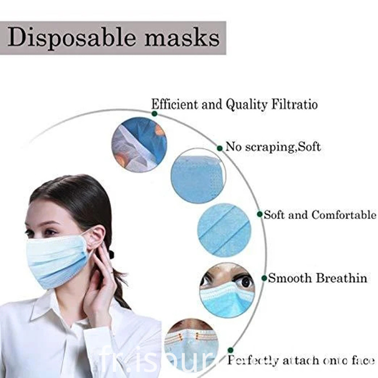 50 pcs disposable mask 3-ply face mask