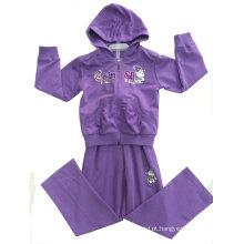Desgaste do esporte da menina da forma na roupa francesa das crianças dos Hoodies das crianças de Terry (SWG-114)