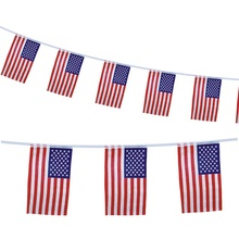 good quality string customized bunting national flag