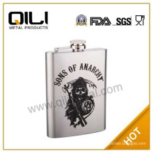 Laser series stainless steel floral flask
