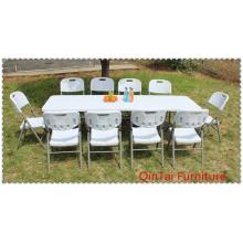 Mesa plegable de 6 pies en mesas al aire libre, mesas plegables baratas, mesa plegable de plástico