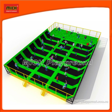 Bungee Mini Indoor Fitness Trampoline Fabricante com Foam Pit
