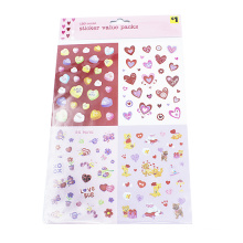 Colorful sticker PVC deco Star Heart Alphabet Number Adhesive stickers for diary phone Stationery School supplies Stickers