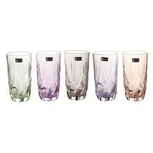 Copa de vidrio de colores Taza de cerveza Taza de té Utensilios de cocina Kb-Jh06160