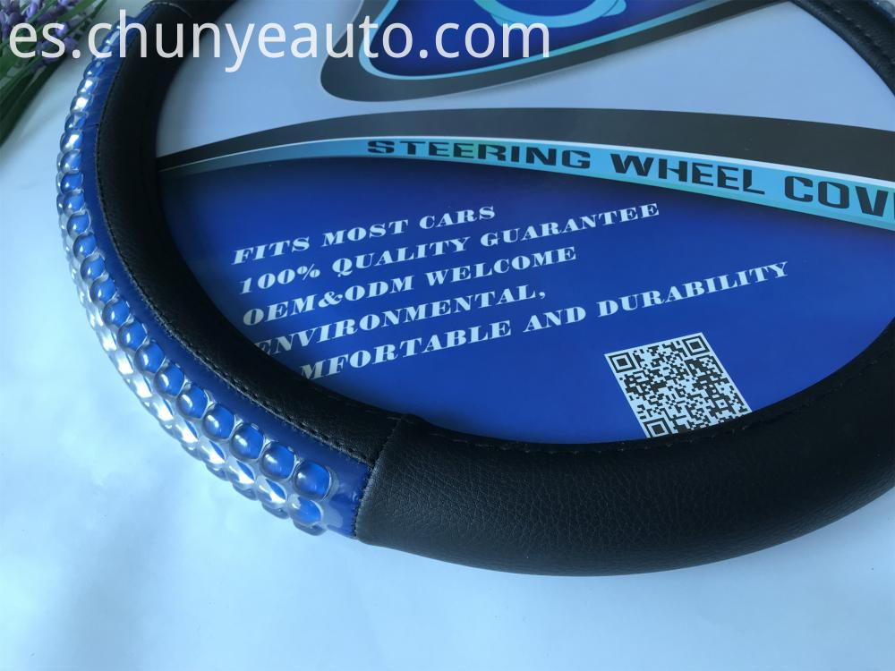quality pu steering wheel cover