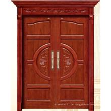 China Luxus doppelte Holztür mit Carving