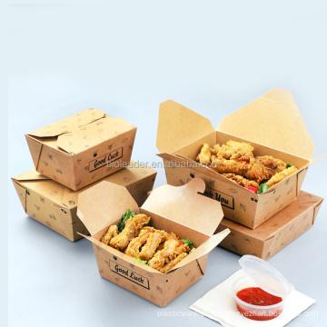 Custom Printing Wholesale Salad Box Salas Boxes Kraft Paper Bento Packaging Food,food & Beverage Packaging Coated Paper 50000pcs