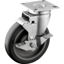 Rodízios de roda de roda TPU de 5 polegadas
