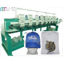 8 cabezas 9 agujas de la máquina de bordado de la camisa de la gorra de béisbol / de la camisa
