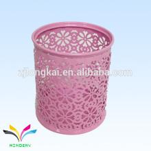 el más nuevo diseño rosado colorido portable por encargo al por mayor sostenedor de la pluma orgaziner del escritorio