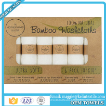 """Super soft bamboo face wash cloth 10""""x10"""" /baby washcloth/ baby dishes cloth in box"""