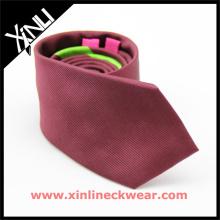 Homens feitos à mão desenhista de seda jacquard tecido laços sólidos gravatas