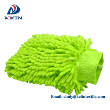 Einseitige Chenille Material abwischen Staub Auto Fleece Auto Reinigung Handschuh