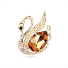 VAGULA шампанское золотой кристалл CZ камень Серебряная брошь