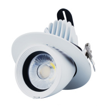 Downlight LED empotrable montado en superficie regulable redondo