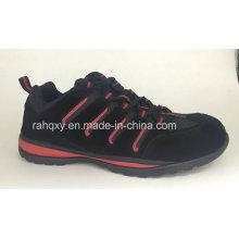 Daim noir cimenté des chaussures de sécurité (HQH064)