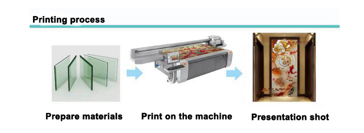 HAE-2030 Flatbed Inkjet Printer printing process