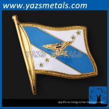 personaliza pernos de metal, personalizados de alta calidad suave esmalte bandera pins