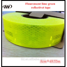 Fita reflexiva do verde-lima flouresent da classe do diamante