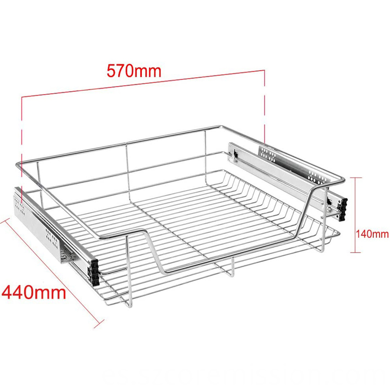 Soft Closing Pull-out Drawer Built-in Telescopic Basket