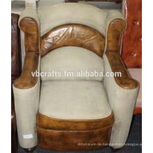 Leder Leinwand Antike Finish moderne Sofa Couch