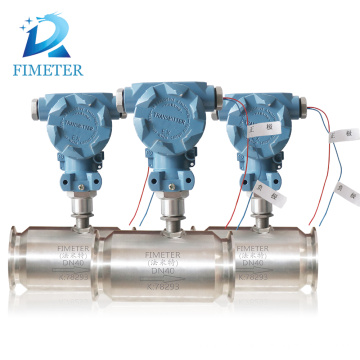 High quality turbine flow meter with screw connection gas flow meter