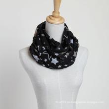 Bufanda a estrenar de la bufanda de la estrella del voile de la marca de fábrica del estilo grande, bufanda del poliester