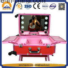 Stylish Aluminum Makeup Case with Cool LED Lights Hb-3600