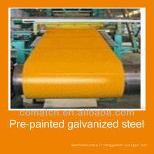 Bobine d'acier galvanisé pré-peint DX51D